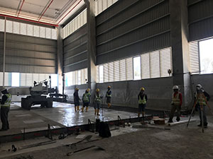Laying floor for Pan Asia Logistics
