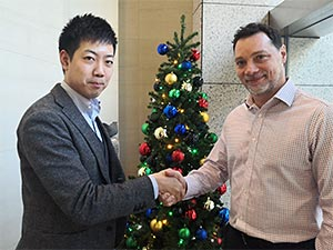 Masaki Mori, CoGri Japan's New Business Development Manager With Jason Blackmore, CoGri Asia's Regional Manager